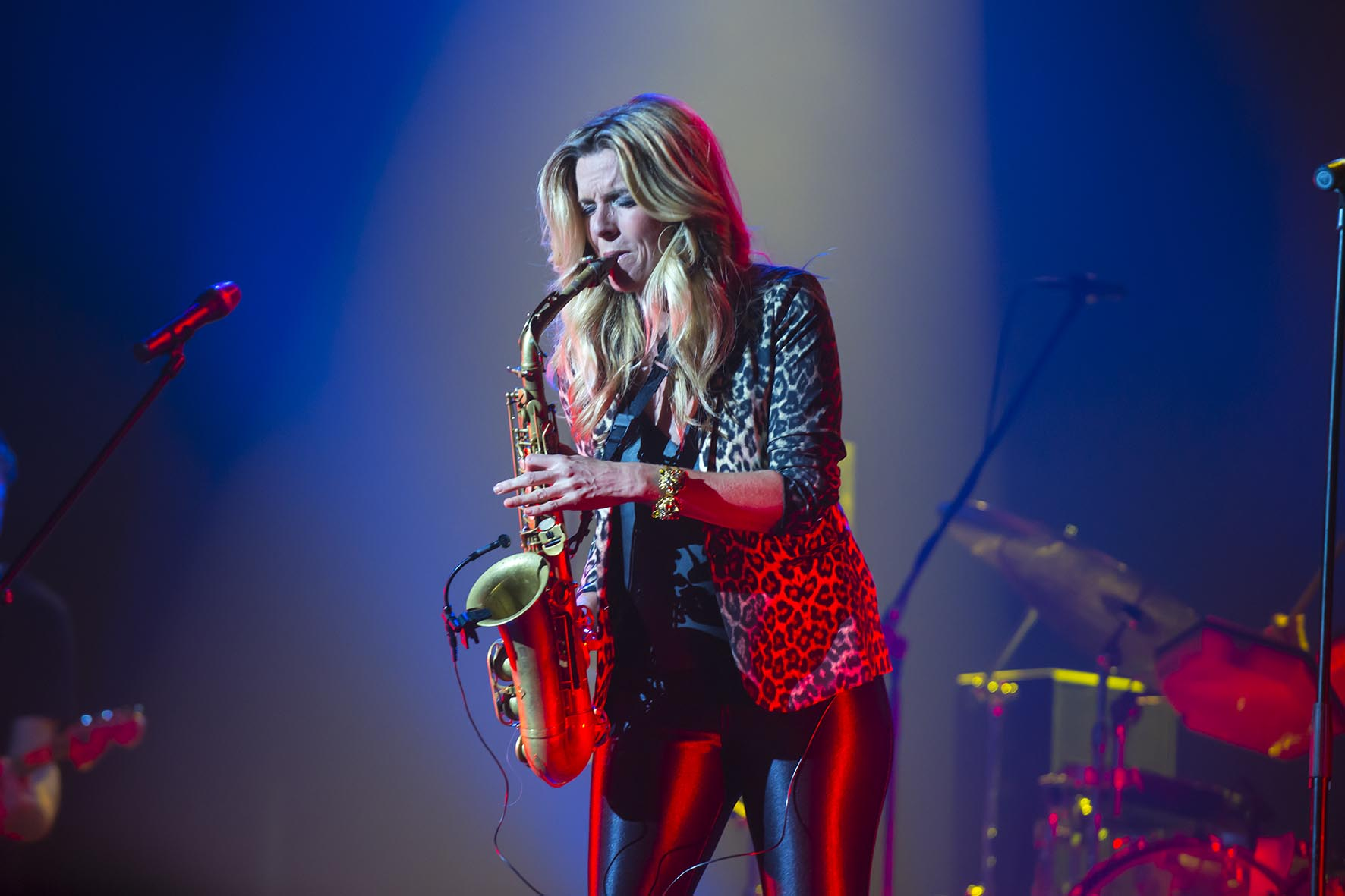 World-Famous Saxophonist Candy Dulfer Gives Concert in
