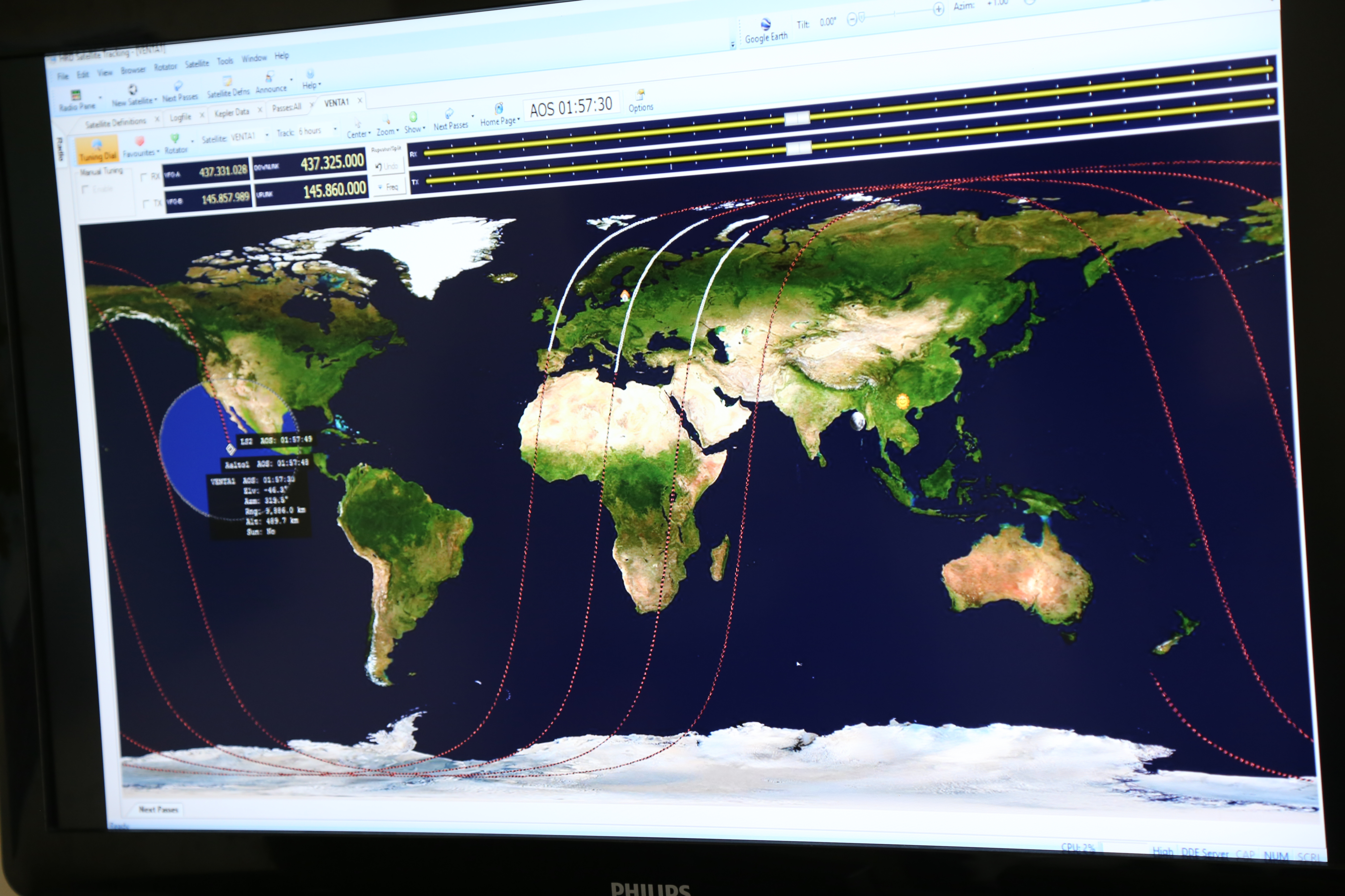 Latvias First Satellite Venta Successfully Launched Into Space - Google earth live satellite