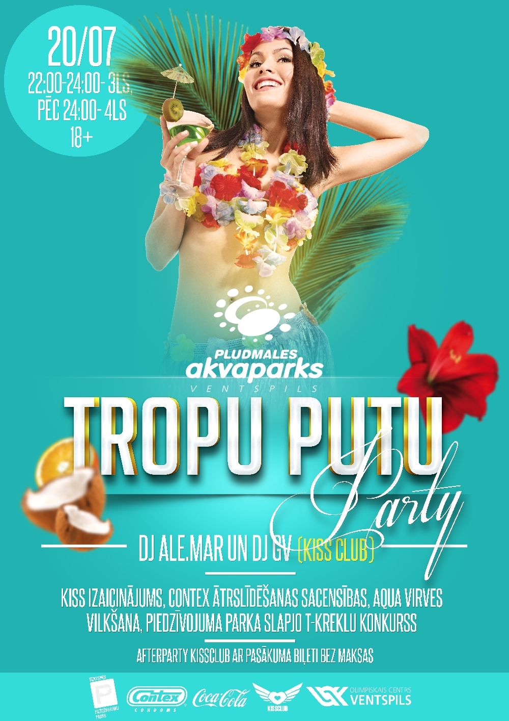 Seaside Waterpark to throw Tropical Foam Party - Ventspils.lv